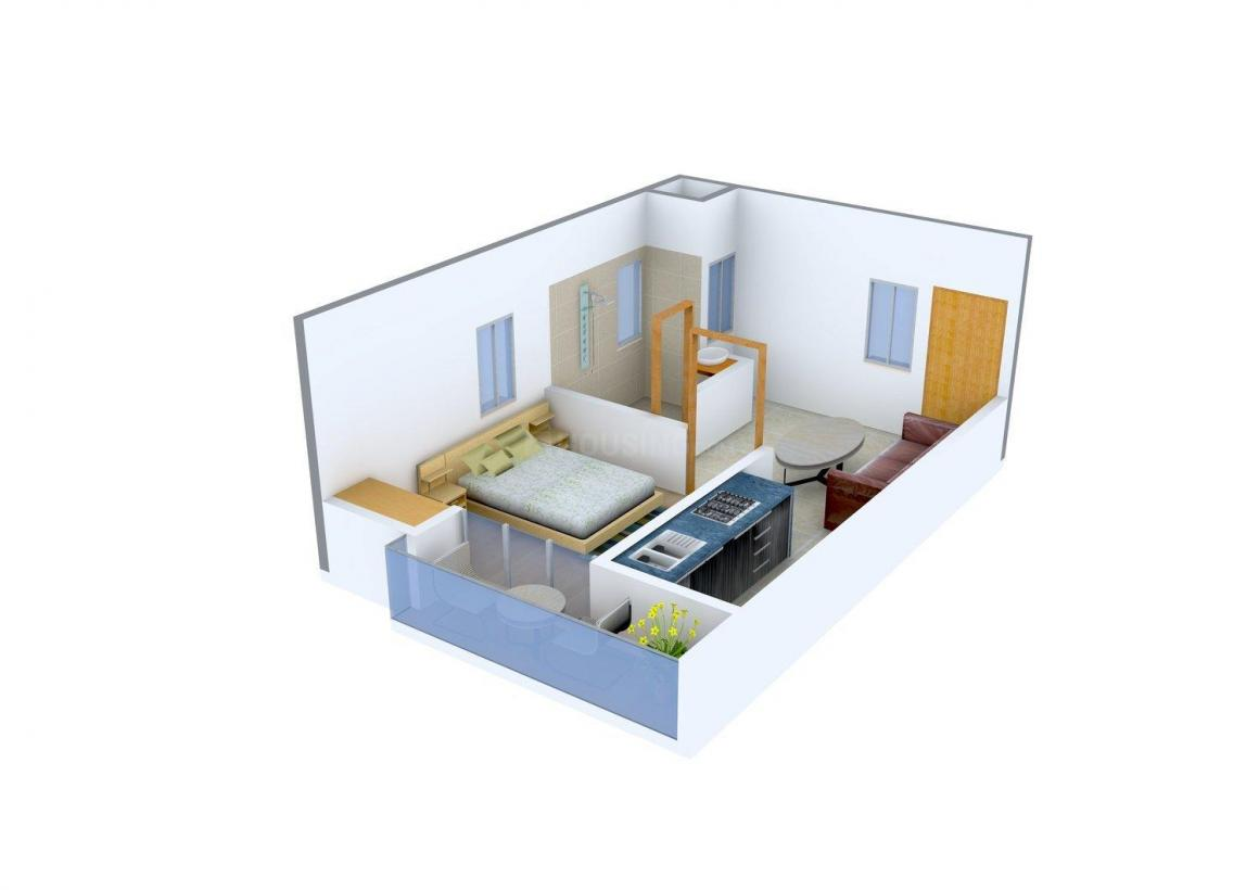 Aradhya Shree Height -II Floor Plan: 1 BHK Unit with Built up area of 480 sq.ft 1