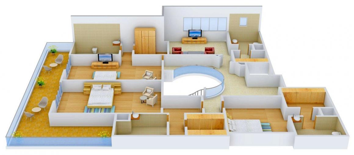 Floor Plan Image of 0 - 5500.0 Sq.ft 4 BHK Apartment for buy in Rohan Aashiana