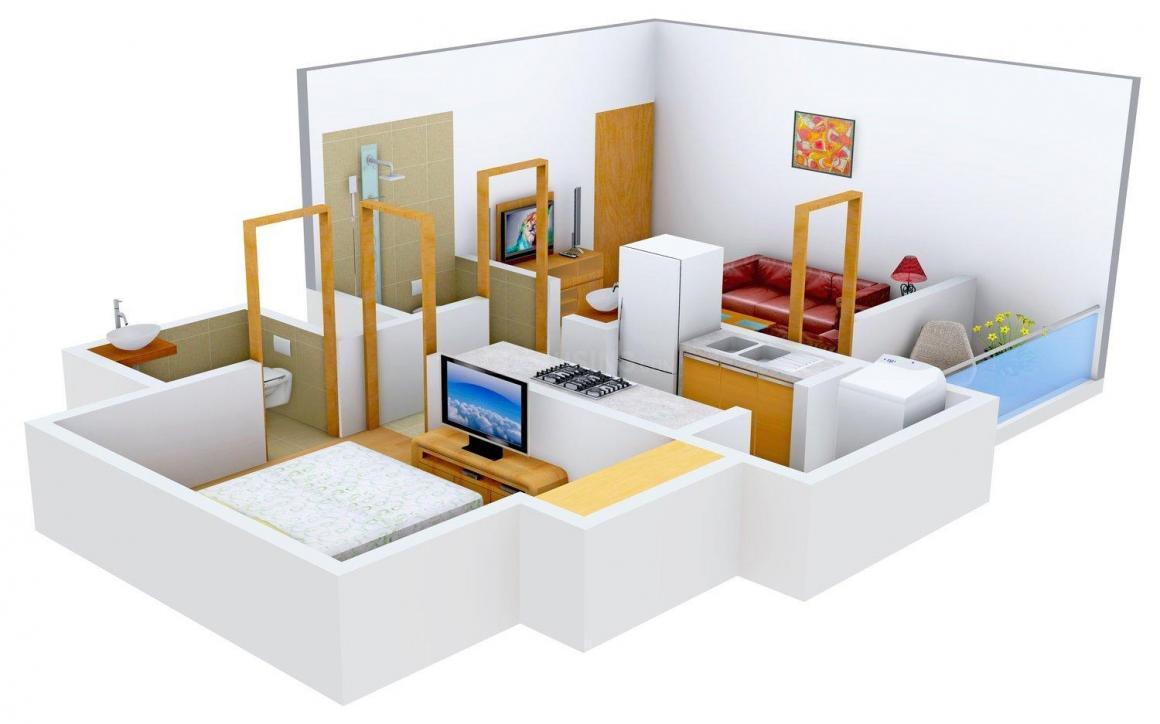 Pramukh House Pramukh Sangam Floor Plan: 1 BHK Unit with Built up area of 850 sq.ft 2