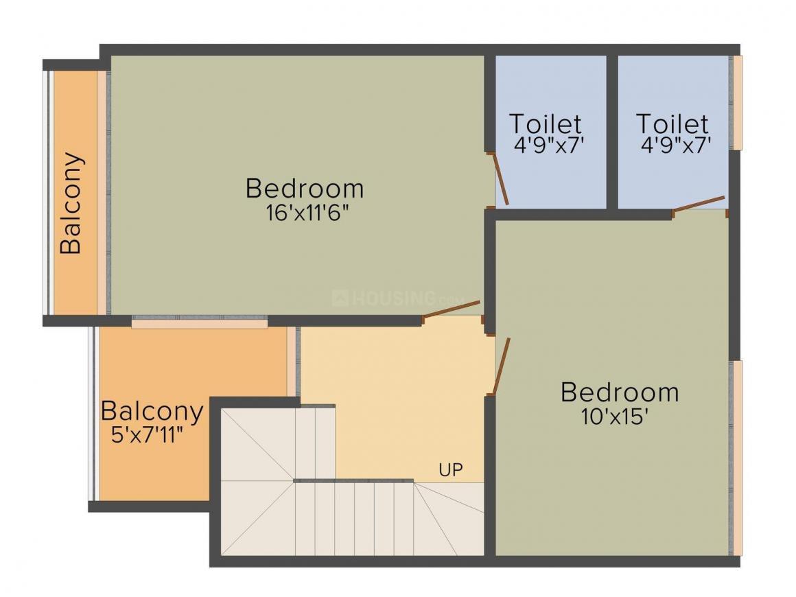 Avirat Silver Parikrama Floor Plan: 4 BHK Unit with Built up area of 2610 sq.ft 3