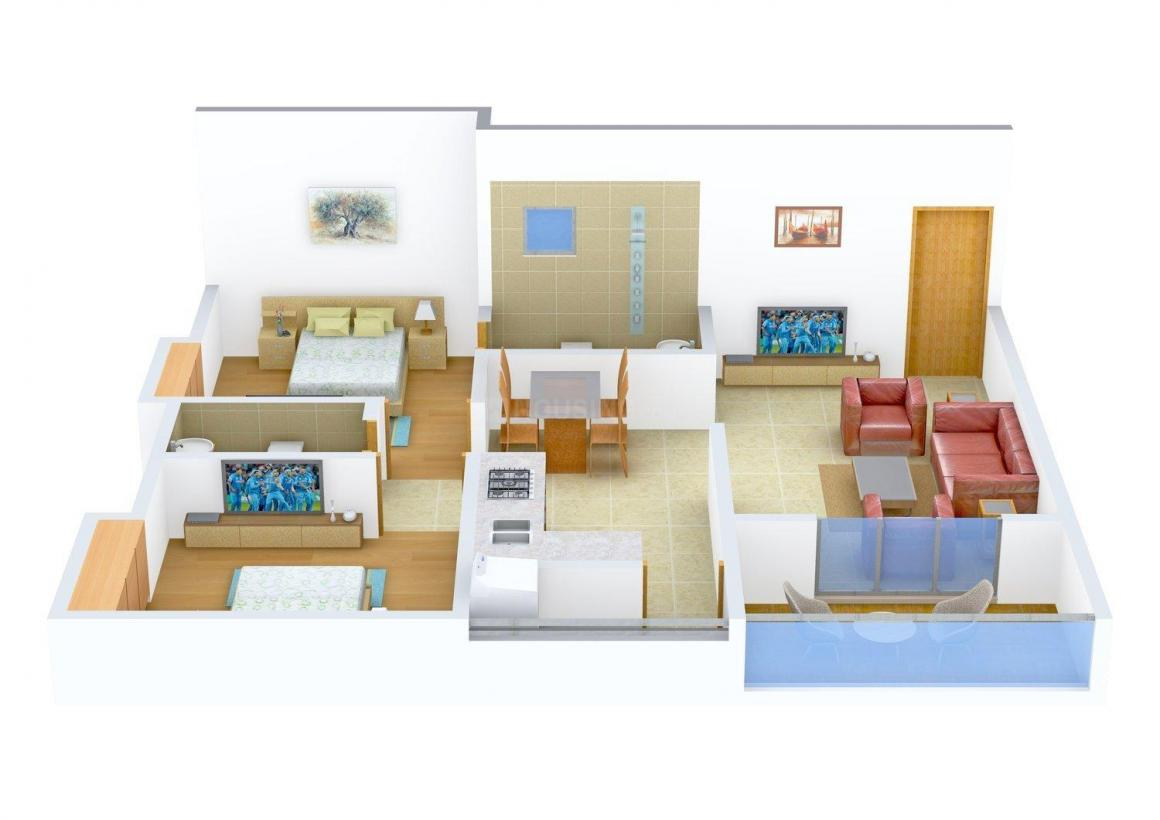Floor Plan Image of 692.0 - 954.0 Sq.ft 2 BHK Apartment for buy in Siddhesh Arya Enclave