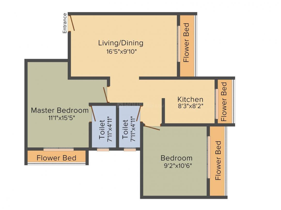 Floor Plan Image of 650.0 - 1050.0 Sq.ft 1 BHK Apartment for buy in RD Parvati Enclave