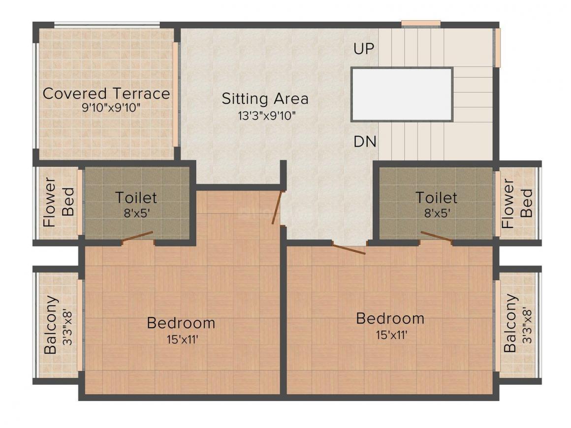 Floor Plan Image of 0 - 3595 Sq.ft 3.5 BHK Villa for buy in Ashapura Alpine Woods Twin Villas