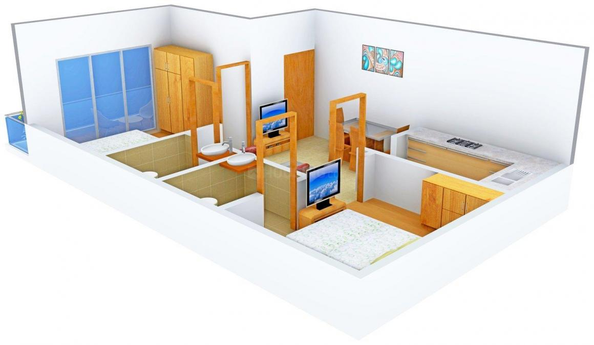 Rattan Homes 3 Floor Plan: 2 BHK Unit with Built up area of 540 sq.ft 1