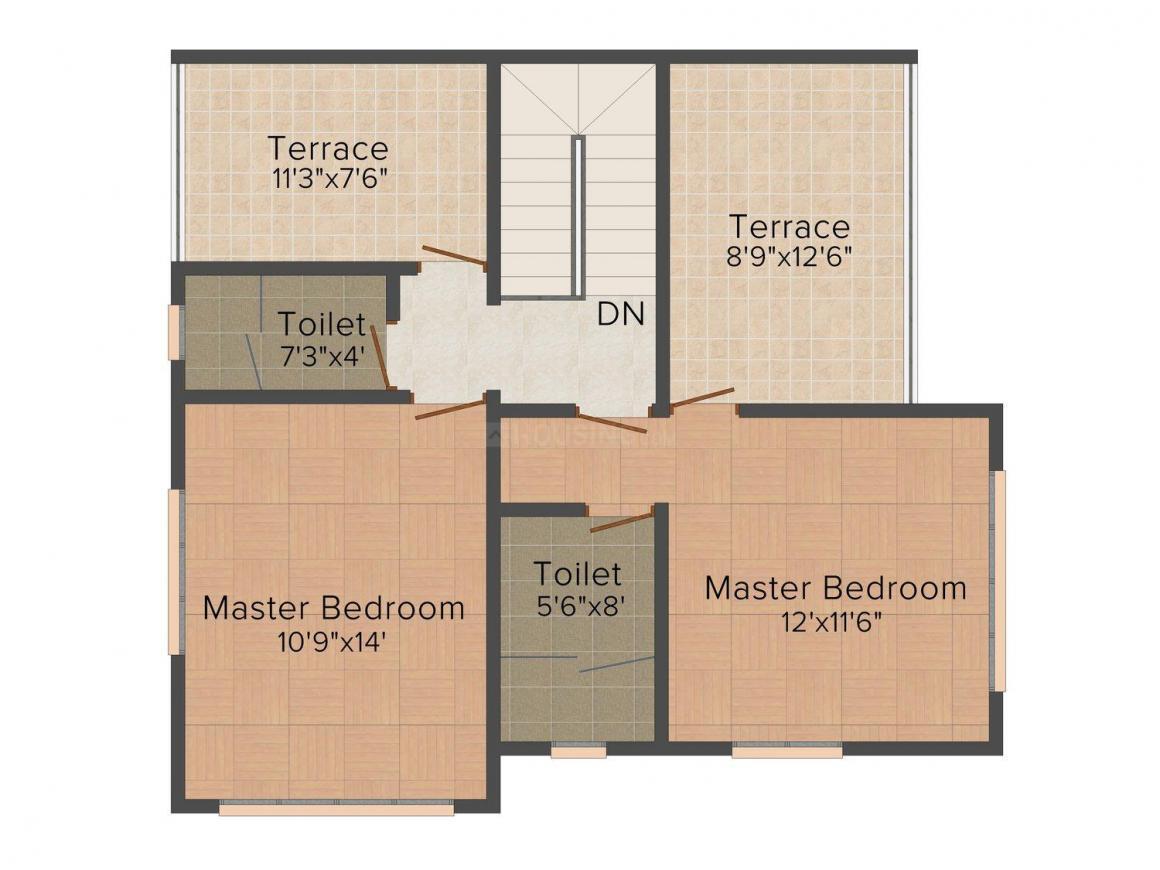 Floor Plan Image of 0 - 2152.0 Sq.ft 3 BHK Villa for buy in Essen Horizon Phase I Villa