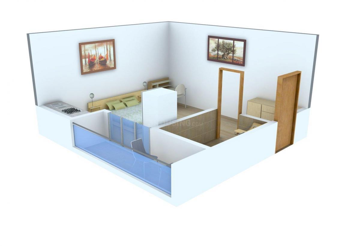Floor Plan Image of 390.0 - 680.0 Sq.ft 1 BHK Apartment for buy in Pushpanjali Gopnanda