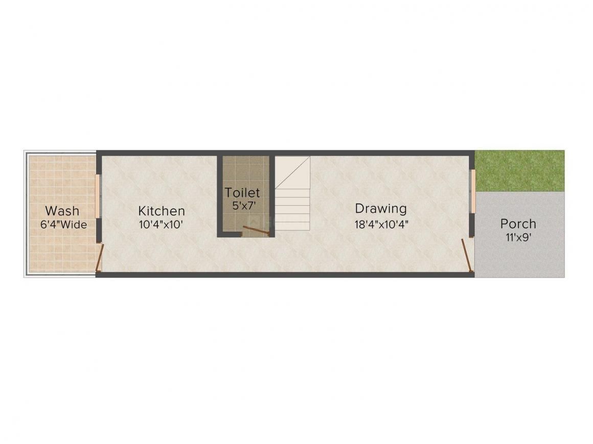 Floor Plan Image of 1050.0 - 2000.0 Sq.ft 2 BHK Bungalow for buy in Swastik Royal Bungalows