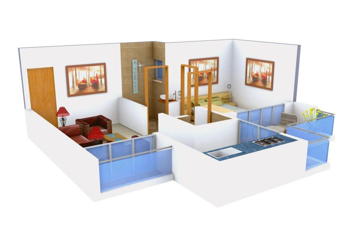 Floor Plan Image of 417.0 - 697.0 Sq.ft 1 BHK Apartment for buy in Astha Corner