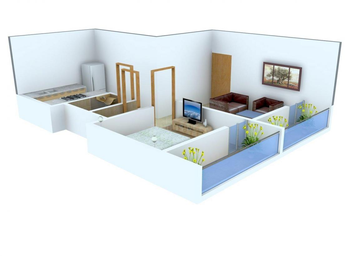 Floor Plan Image of 0 - 425.0 Sq.ft 1 BHK Apartment for buy in Bhavani Complex