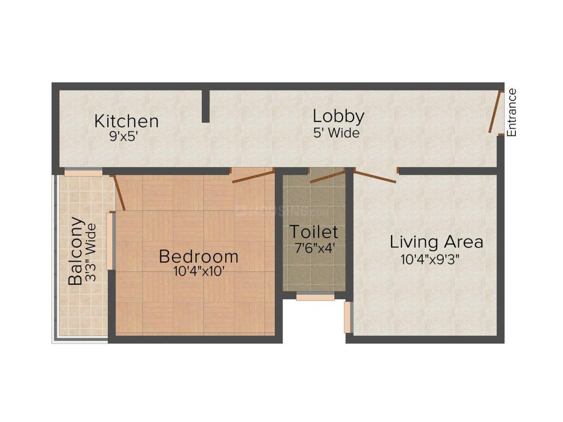 Floor Plan Image of 0 - 450 Sq.ft 1 BHK Independent Floor for buy in DGHC Homes - II
