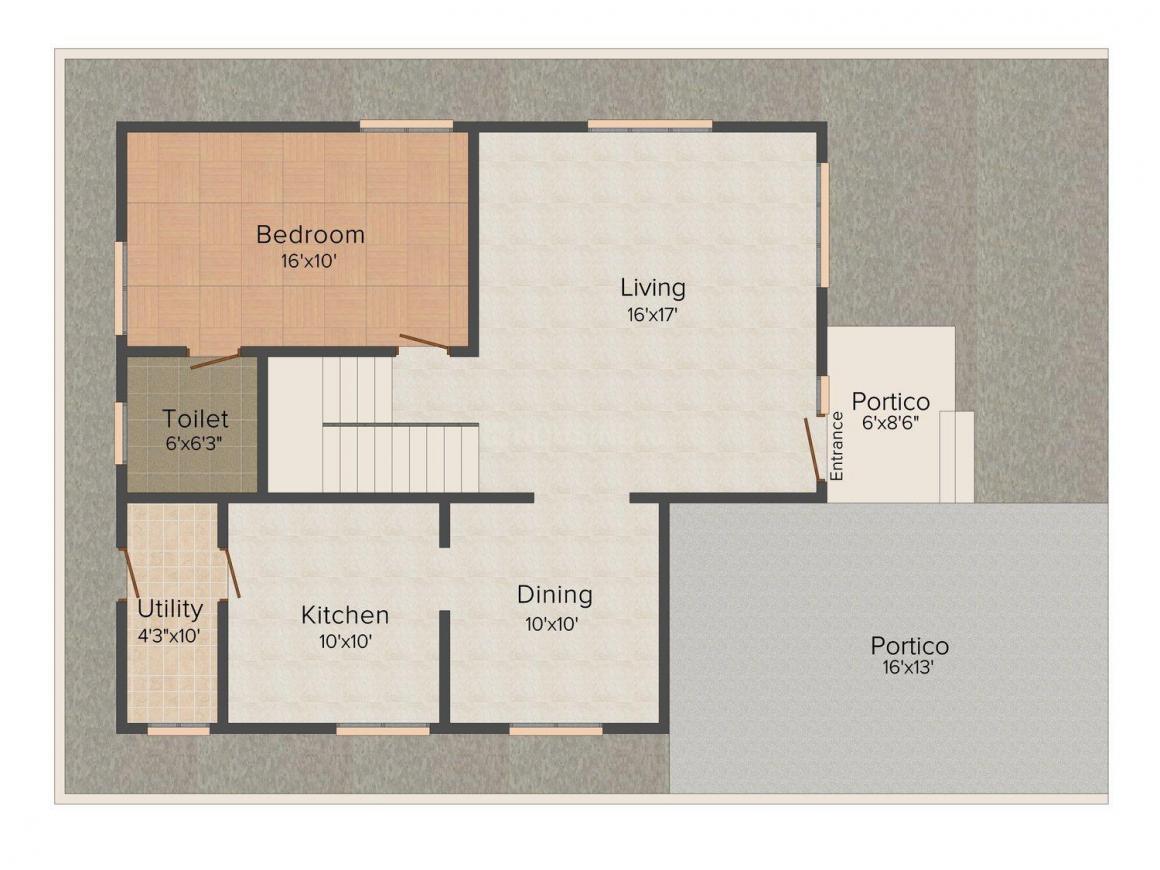 Floor Plan Image of 1910 - 2030 Sq.ft 3 BHK Villa for buy in JRD Royale Villas
