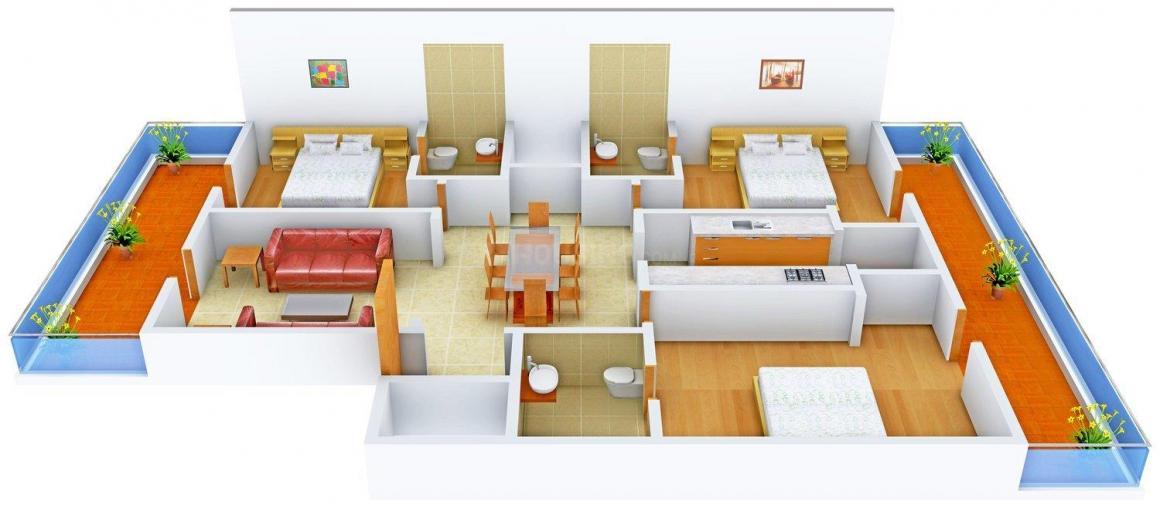 Floor Plan Image of 0 - 1800.0 Sq.ft 3 BHK Independent Floor for buy in Allure Floors 20