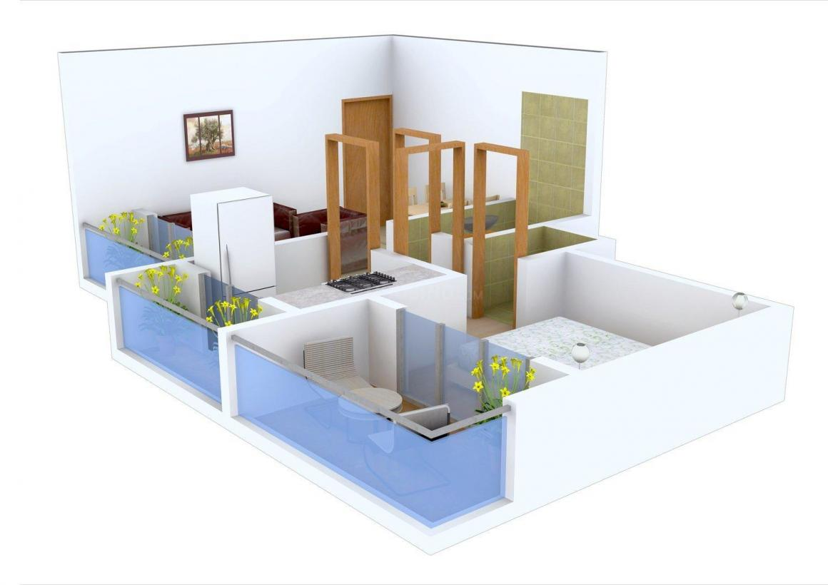 Floor Plan Image of 412.0 - 680.0 Sq.ft 1 BHK Apartment for buy in Dev Drishti