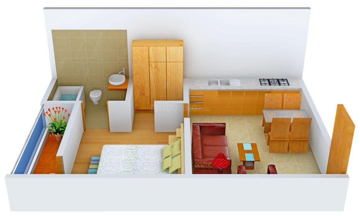 Vichitra Eco Homes Floor Plan: 1 BHK Unit with Built up area of 576 sq.ft 1