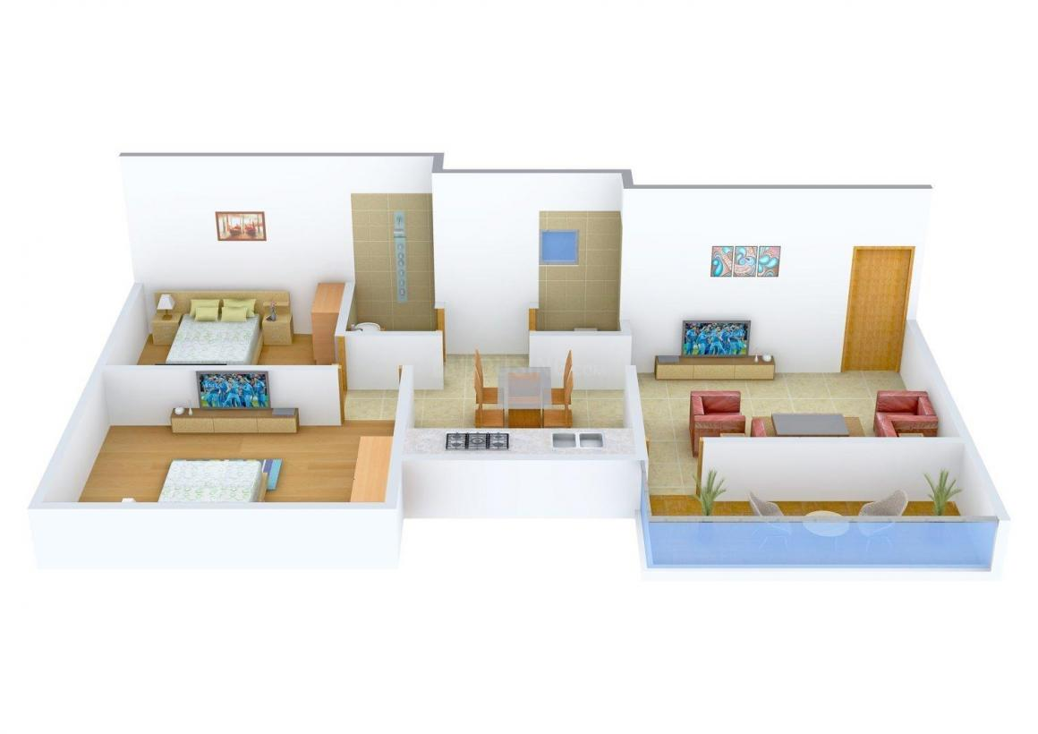 Floor Plan Image of 0 - 845 Sq.ft 2 BHK Apartment for buy in Patil's Om Sai Niwas
