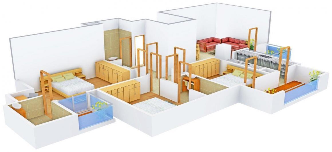 Floor Plan Image of 0 - 1720 Sq.ft 3 BHK Independent Floor for buy in Amgeco Palm Garden