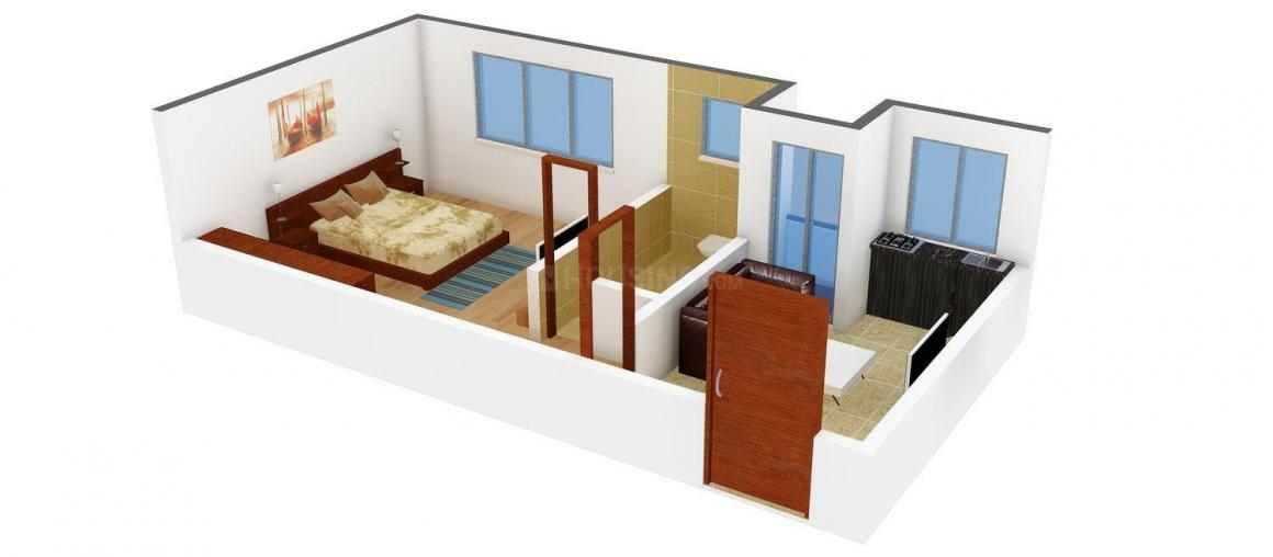 Floor Plan Image of 301 - 932 Sq.ft 1 BHK Apartment for buy in BGA Amrita Abashan