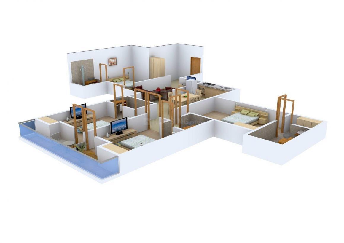 Floor Plan Image of 0 - 1755 Sq.ft 4 BHK Independent Floor for buy in Jain Homes - 9