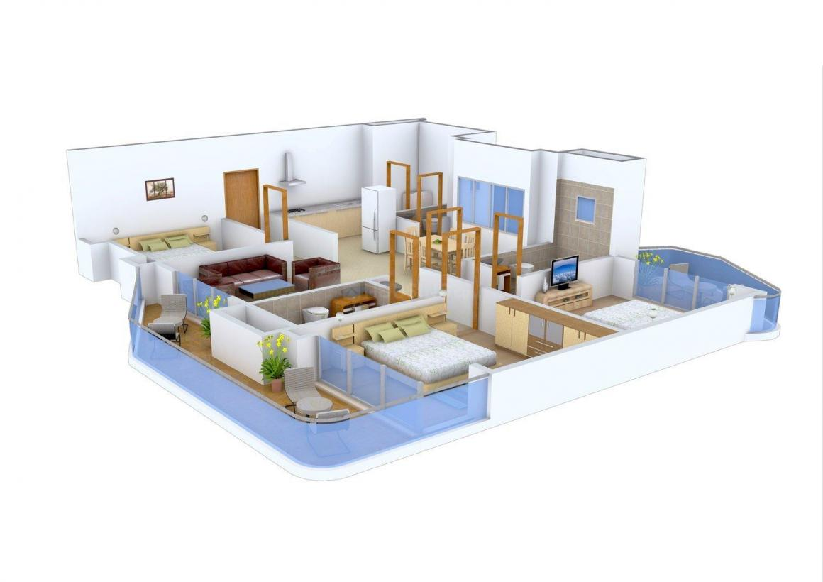 Floor Plan Image of 1483 - 2085 Sq.ft 3 BHK Apartment for buy in Windsor Amulyam