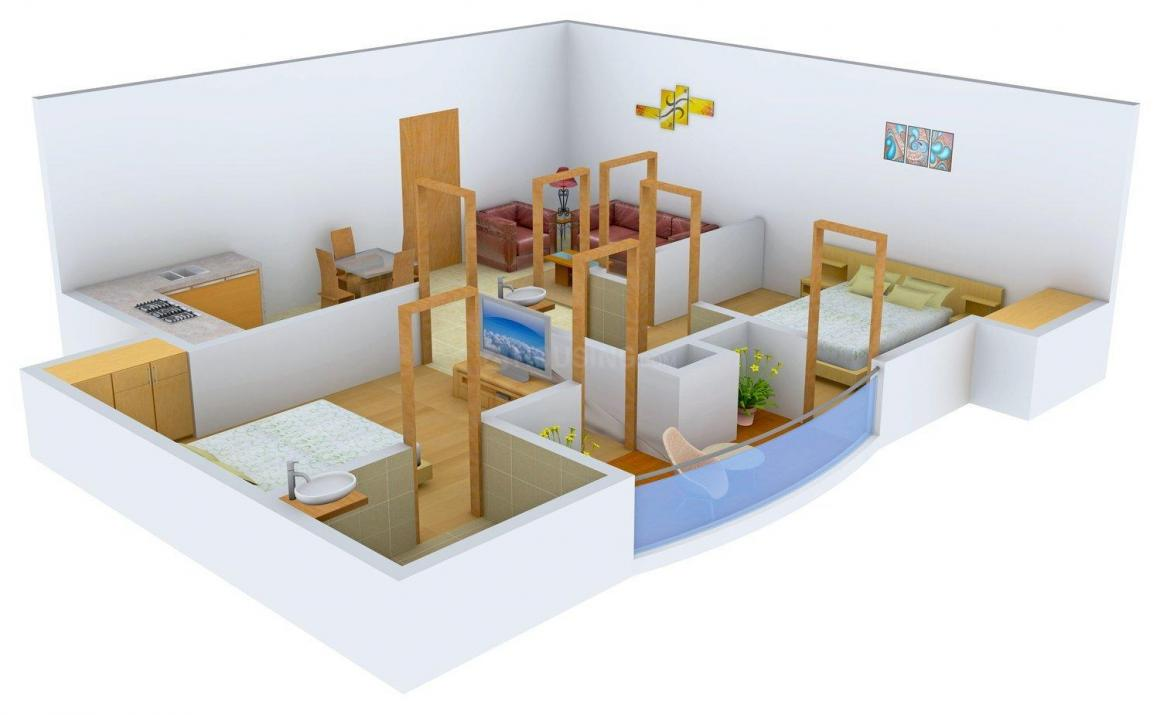 Floor Plan Image of 750.0 - 1389.0 Sq.ft 2 BHK Apartment for buy in Trehan THD Garden