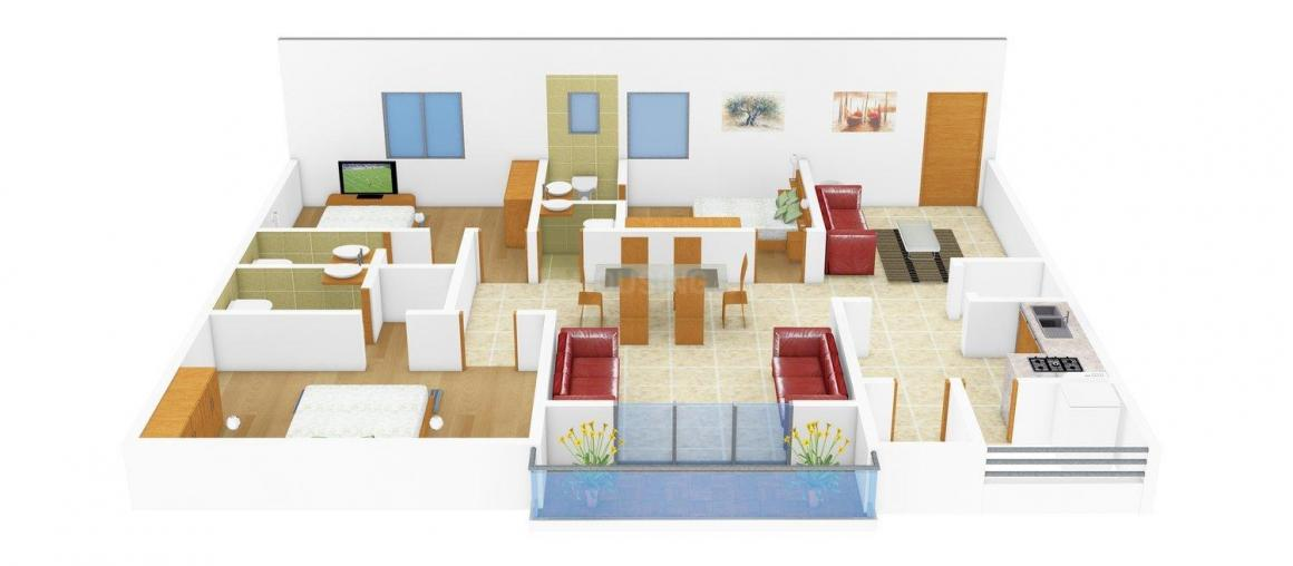 Floor Plan Image of 2770.0 - 3110.0 Sq.ft 3 BHK Apartment for buy in Reliance Avans Legacy