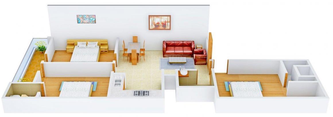 Floor Plan Image of 0 - 1010.0 Sq.ft 3 BHK Independent Floor for buy in Gupta G Builder Site 62