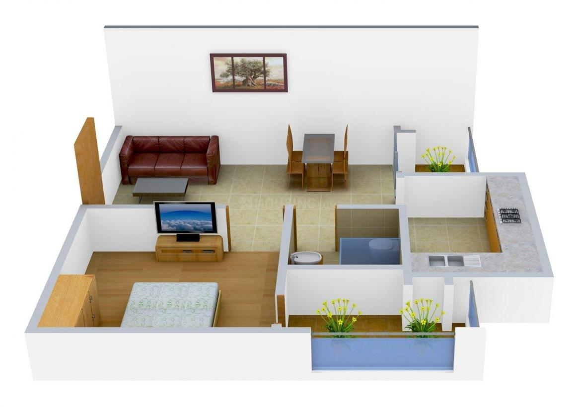 Floor Plan Image of 745 - 1697 Sq.ft 1 BHK Apartment for buy in RS Ridhi Sidhi Residency