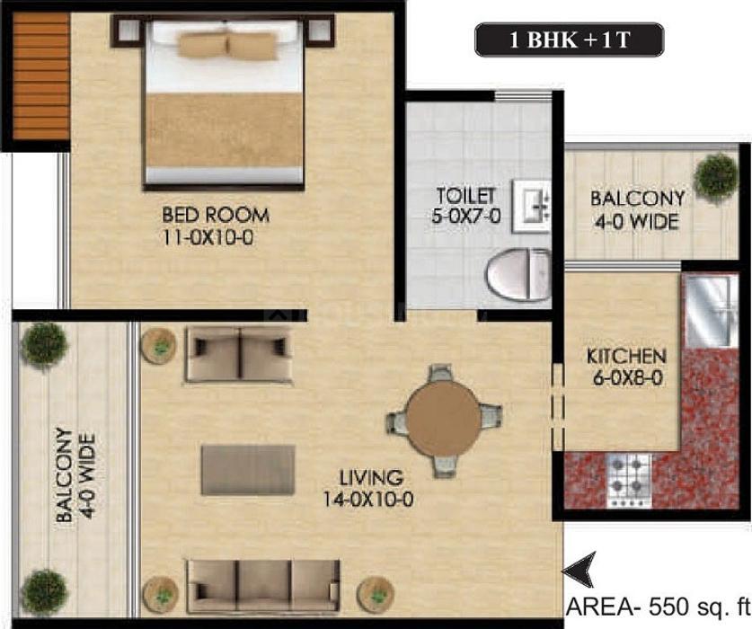 Floor Plan Image of 305.0 - 1850.0 Sq.ft Studio Studio Apartment for buy in MTNL Housing