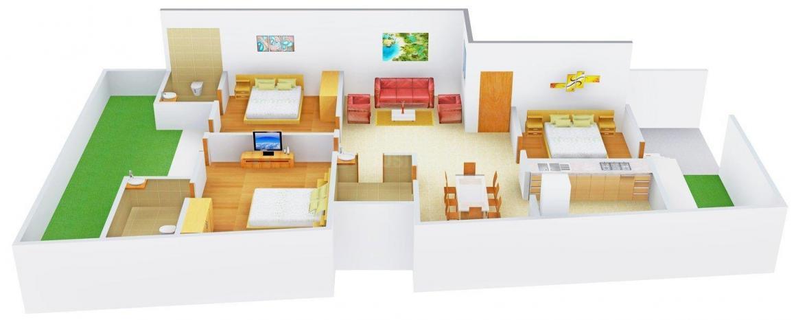 Floor Plan Image of 0 - 2106.0 Sq.ft 3 BHK Independent Floor for buy in Swastik Floor - 1