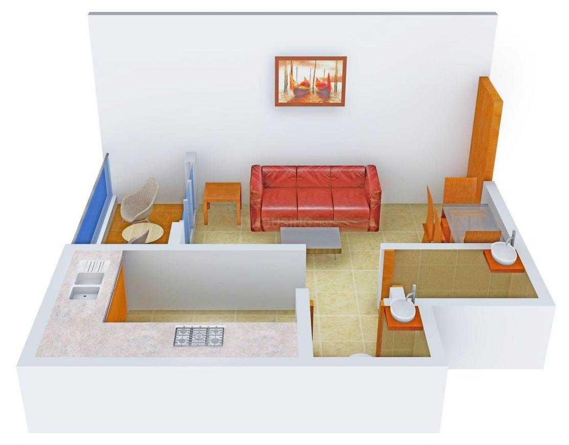 Floor Plan Image of 333 - 536 Sq.ft 1 RK Apartment for buy in Abbys Vangani