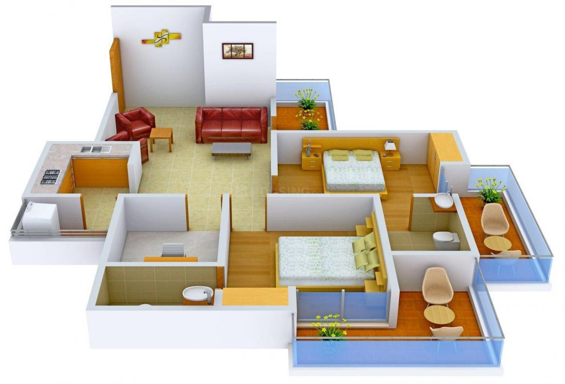 Floor Plan Image of 0 - 1090 Sq.ft 2.5 BHK Apartment for buy in Evergreen Apartments