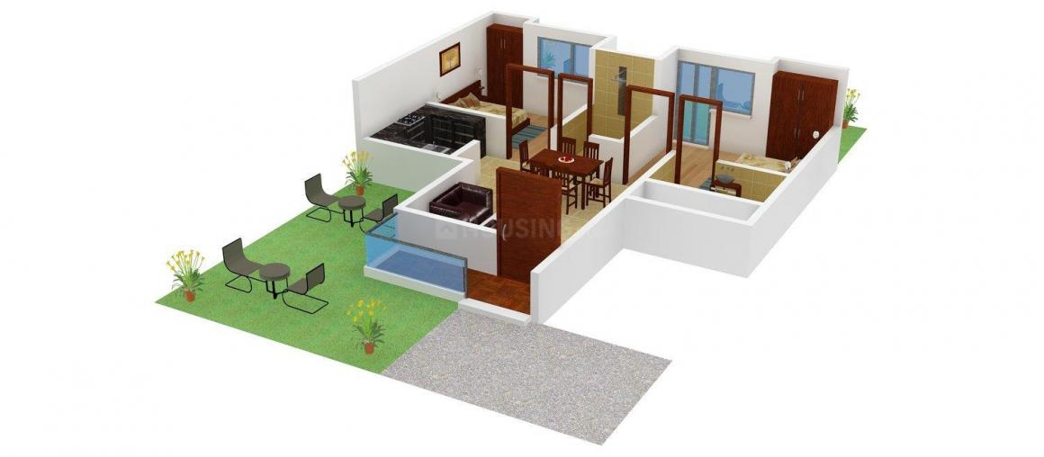 Floor Plan Image of 0 - 850 Sq.ft 2 BHK Apartment for buy in Adel Green World