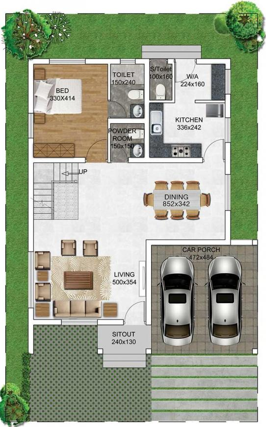 Prime Atmosphere Floor Plan: 1 BHK Unit with Built up area of 1227 sq.ft 1