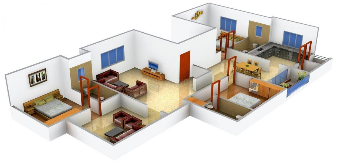 Wama Insha Floor Plan: 3 BHK Unit with Built up area of 1920 sq.ft 1