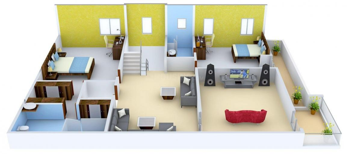 Gauthami Vivana Floor Plan: 4 BHK Unit with Built up area of 4896 sq.ft 2