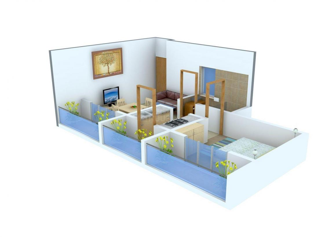 Floor Plan Image of 0 - 415.0 Sq.ft 1 BHK Apartment for buy in Gangeshwar