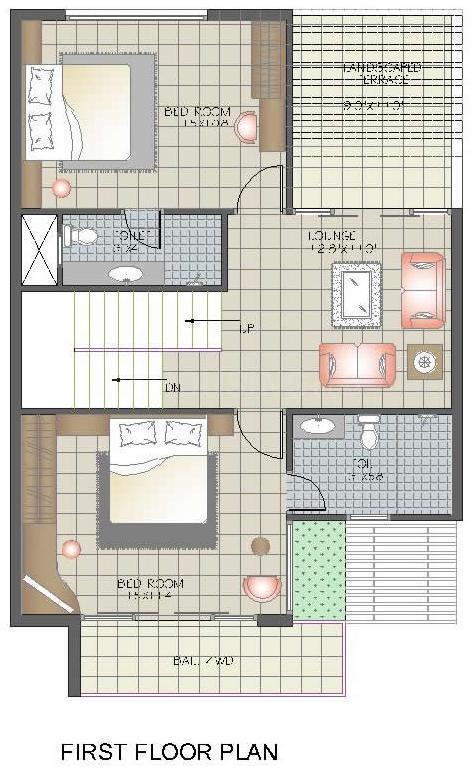 Sunil Chameli Villas Floor Plan: 3 BHK Unit with Built up area of 2000 sq.ft 2