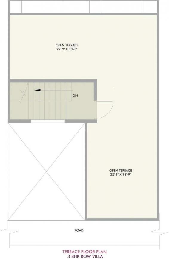 Vivansaa Amaryllies Boulevard Floor Plan: 3 BHK Unit with Built up area of 1718 sq.ft 3