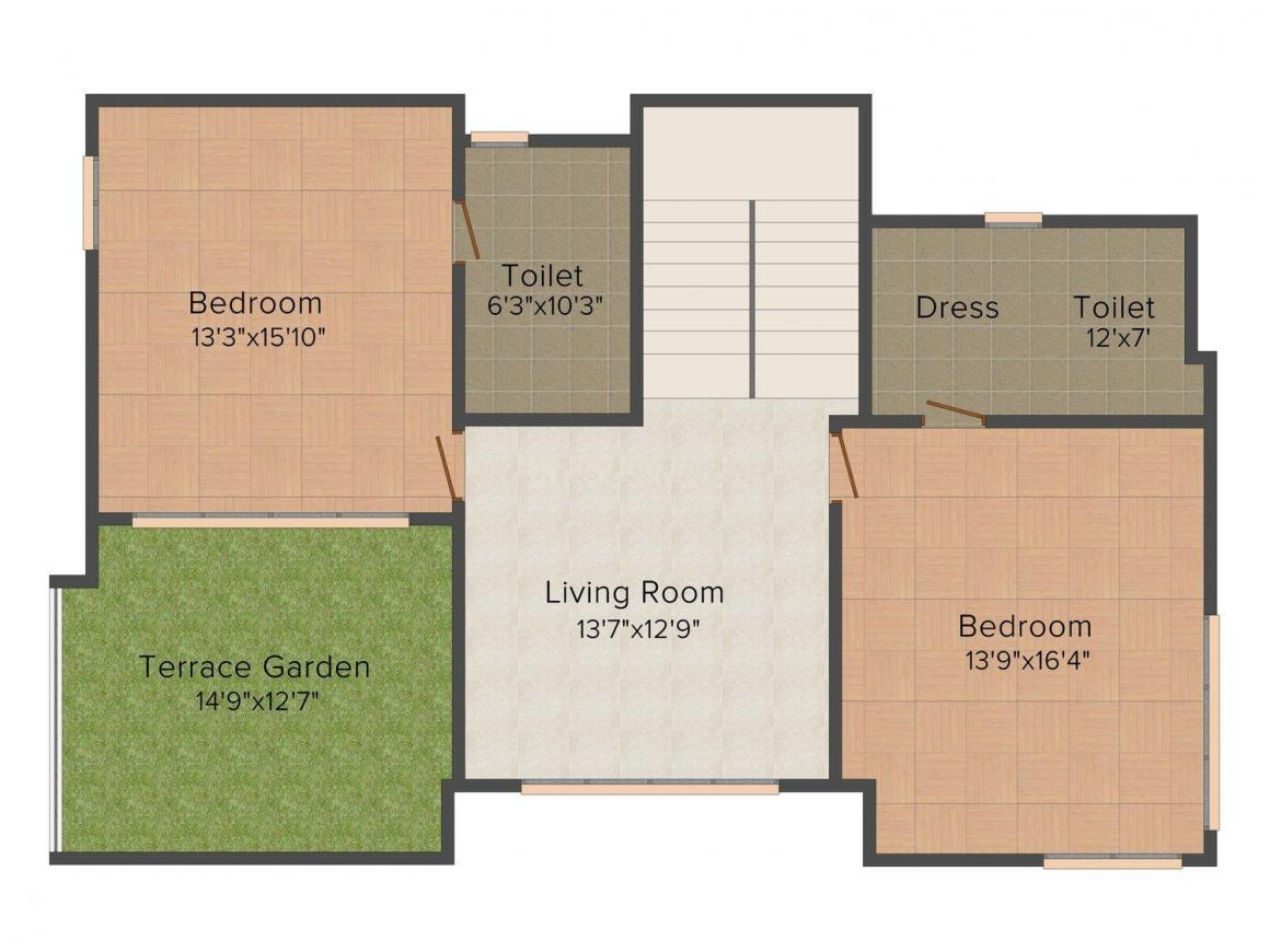 KP Villas Floor Plan: 4 BHK Unit with Built up area of 3618 sq.ft 1