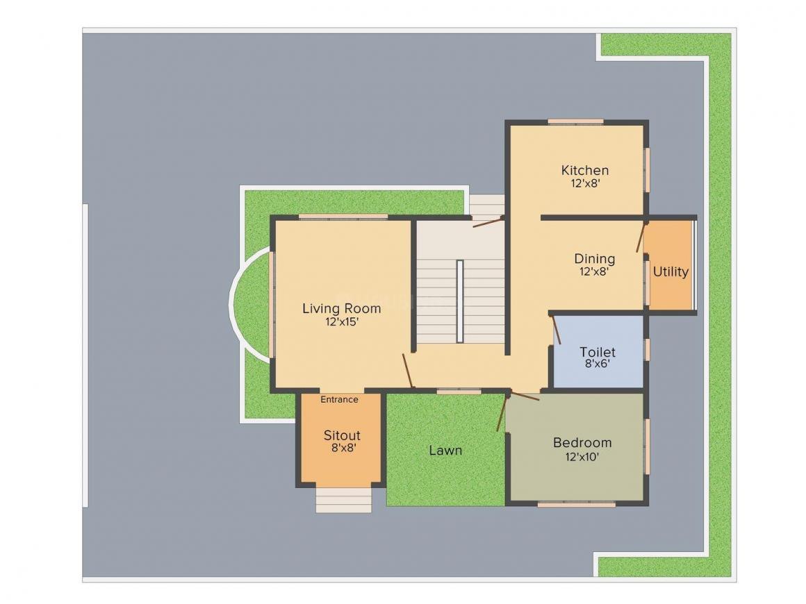 Floor Plan Image of 0 - 1495 Sq.ft 2 BHK Villa for buy in Shree Hari Sparsh
