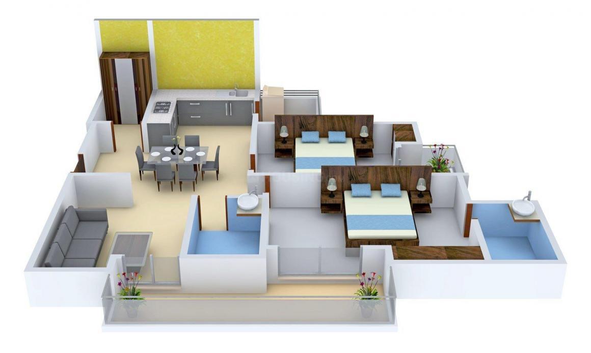 Floor Plan Image of 1315 - 1995 Sq.ft 2 BHK Apartment for buy in Gulshan Ikebana