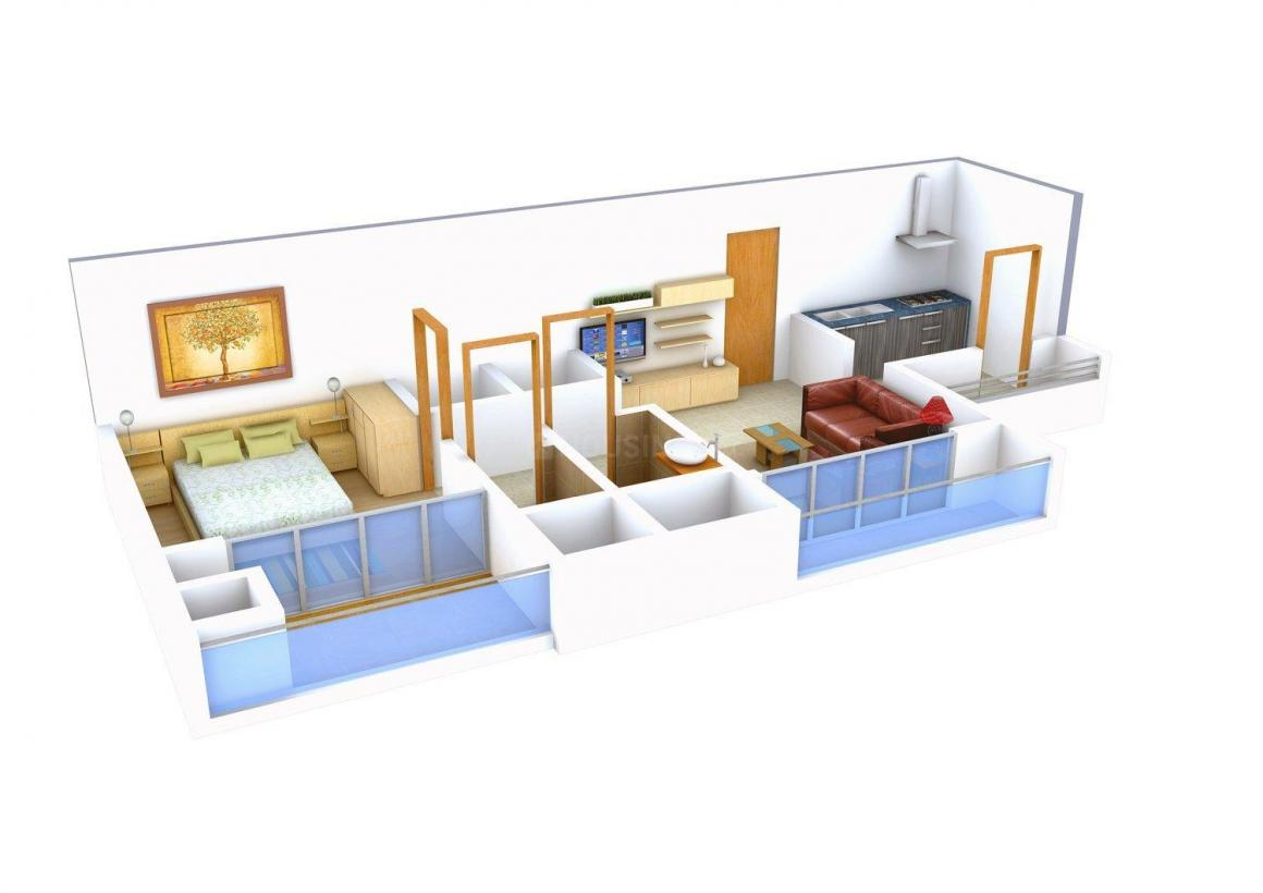 Floor Plan Image of 670.0 - 1125.0 Sq.ft 1 BHK Apartment for buy in Om Sai Riddhi Siddhi Paradise