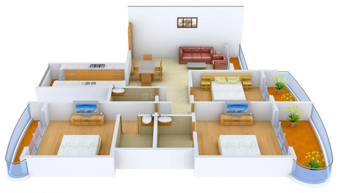 Floor Plan Image of 1200 - 3125 Sq.ft 2 BHK Apartment for buy in Paradise Sai Miracle