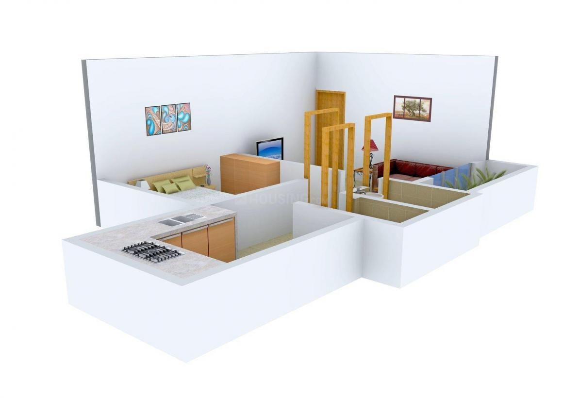 Floor Plan Image of 650.0 - 880.0 Sq.ft 1 BHK Apartment for buy in Alfa Sunset Heights