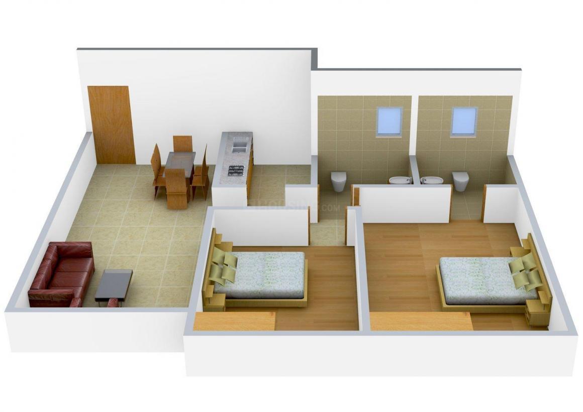 Floor Plan Image of 0 - 973 Sq.ft 2 BHK Apartment for buy in Akar Pinnacle