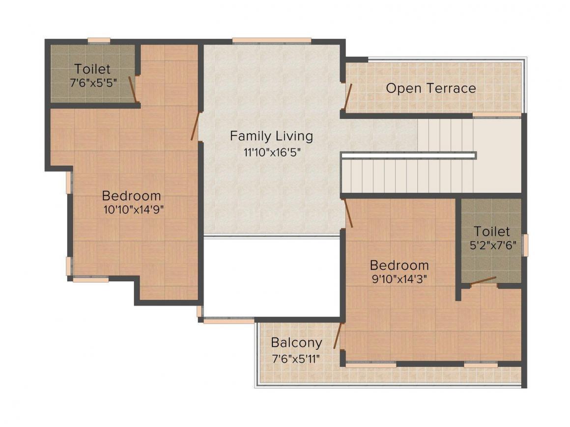 Floor Plan Image of 1130 - 2105 Sq.ft 3 BHK Villa for buy in Rajdhani Silver Sand