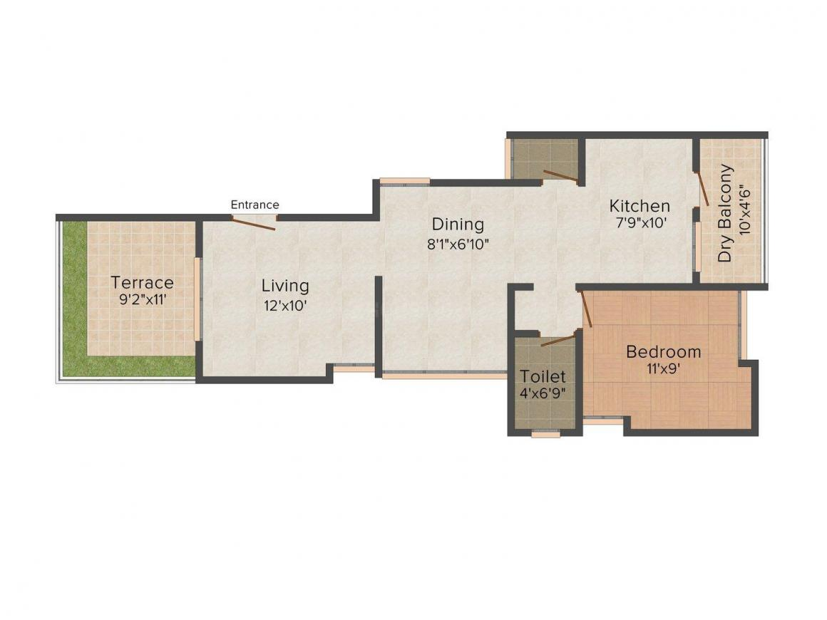 Floor Plan Image of 846.0 - 1838.0 Sq.ft 2 BHK Apartment for buy in 6 Castle