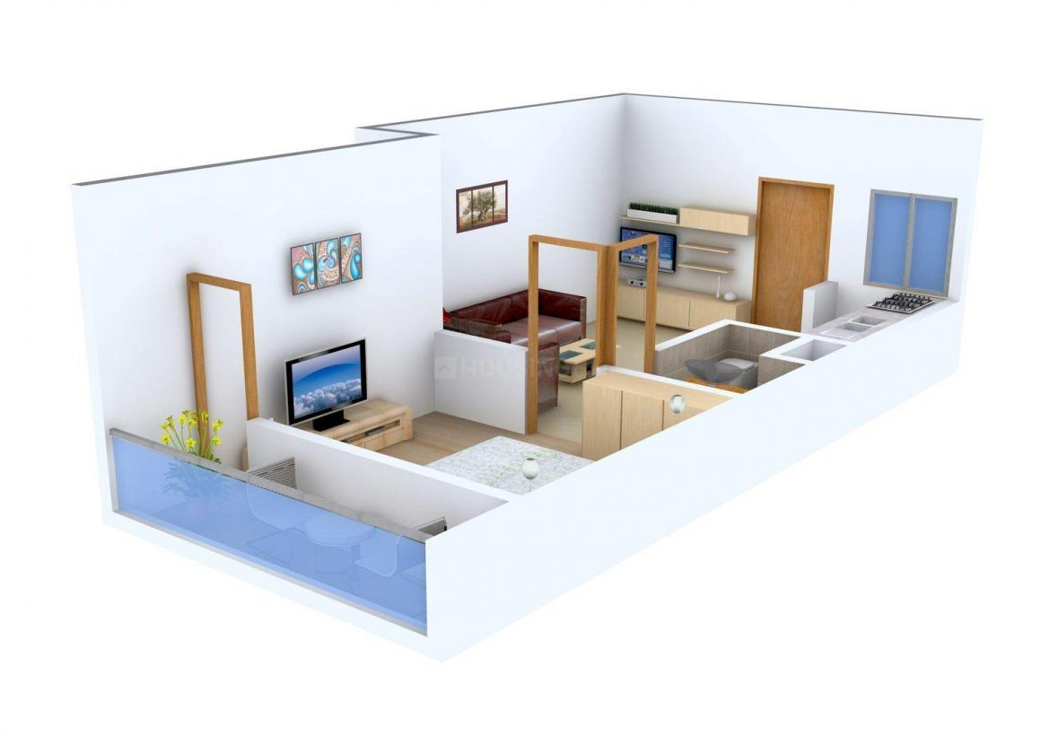 Floor Plan Image of 0 - 520 Sq.ft 1 BHK Independent Floor for buy in Dream House - 4
