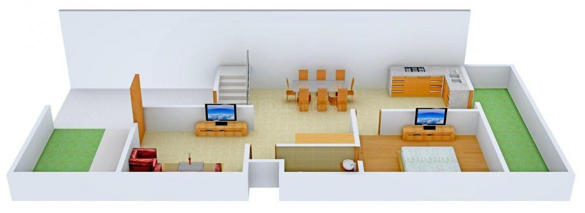 Floor Plan Image of 0 - 2070 Sq.ft 3 BHK Villa for buy in Agrawal Sagar Silver Spings