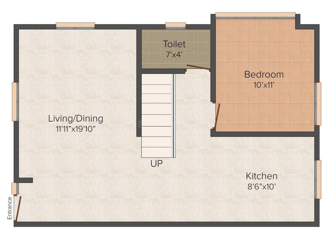 Floor Plan Image of 0 - 2200 Sq.ft 4 BHK Villa for buy in Econ Brownwood